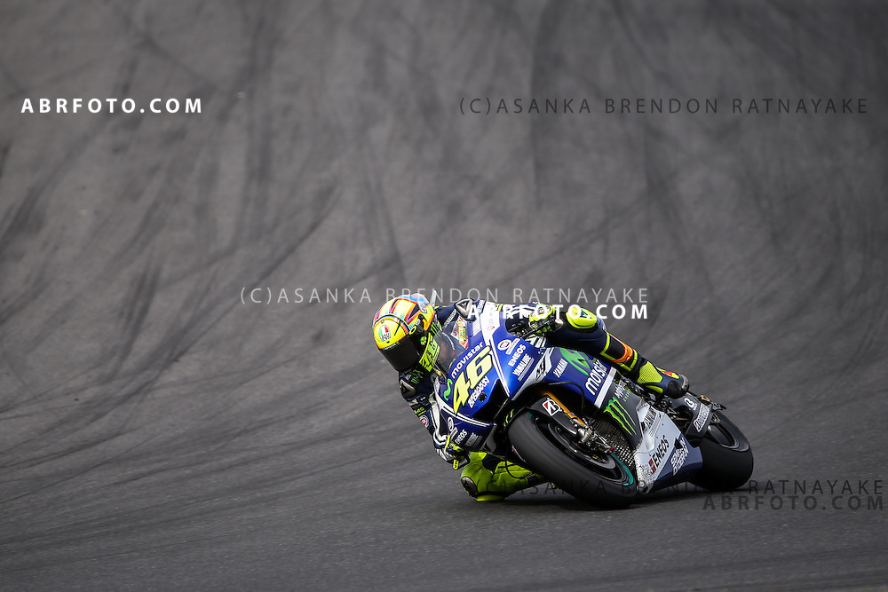 Valentino Rossi riding for Movistar Yamaha MotoGP during the 2014 MotoGP of Australia at Phillip Island Grand Prix Circuit in Phillip Island, Australia on the 19th of October 2014 Photo Asanka Brendon Ratnayake