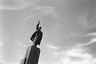Eight years after the country declared its independence from the Soviet Union, in 1991, a statue of Lenin still looks over Ala-Too Square, formerly Lenin Square, in the capital city of Bishkek,  Kyrgyzstan.