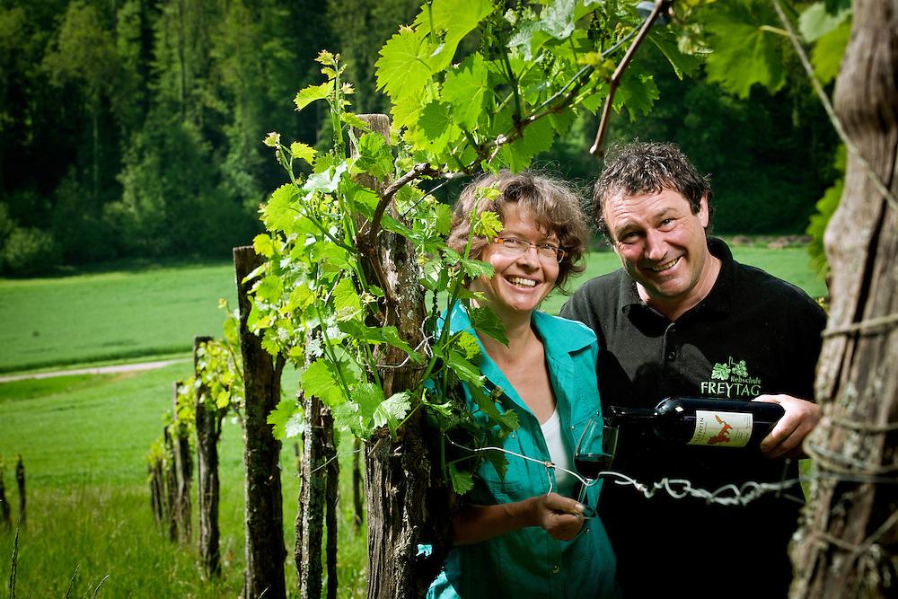 Soyhi&egrave;res, Suisse 04 Mai 2011<br /> Portrait de Silvia et Valentin Blattner.<br /> Photo: Ezequiel Scagnetti