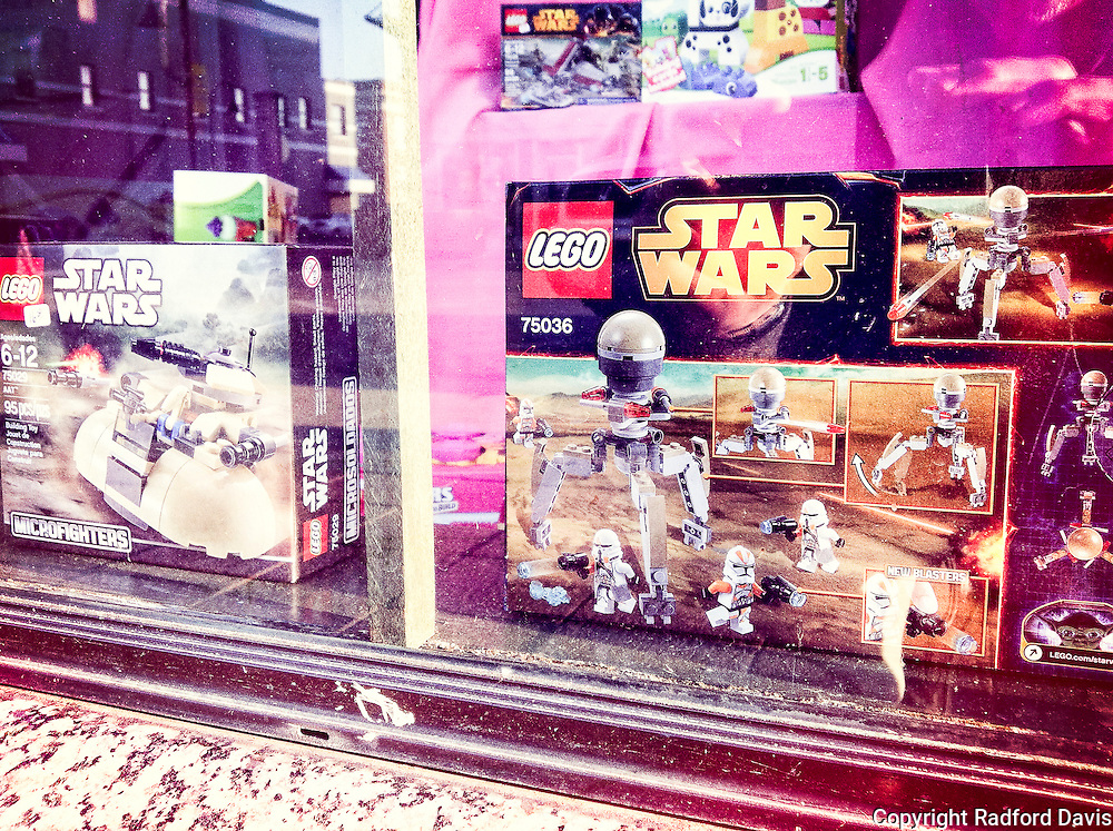 Star Wars toys in the store window