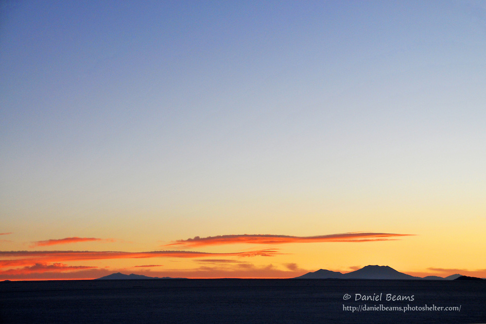 Sunset on the Salar de Uyuni, Bolivia