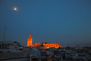 La Giralda and the Cathedral of Saint Mary of the See, Seville, Andalucia, Spain.<br /> Photo: Zute Lightfoot
