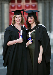 Repro Free: 22 November 2013<br /> MArgaret Mason from Finglas and Cliona Grimes from Bohernabreena who both graduated with Diplomas in Professional Legal Studies at the Independent College Dublin Conferring Ceramony 2013 in St Ann's Church Dawson Street. Picture Andres Poveda