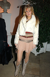 A party hosted by Mario Testino, Bianca Jagger and Kenneth Cole in collaboration with UNFPA and Marie Stopes International to celebrate the publication of Women to Woman: Positively Speaking - a book to raise awareness of women living with HIV/Aids, held at The Orangery, Kensington Palace, London on 2nd December 2004.<br />Picture shows:-MARISSA MONTGOMERY<br /><br />NON EXCLUSIVE - WORLD RIGHTS