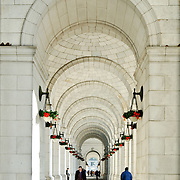 Arches on the exterior of Union Station, Washington DC