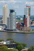 Rotterdam, Netherlands - JUNE 02, 2013: View to the modern buildings in Rotterdam, Netherlands.