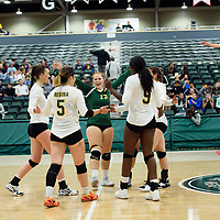 4th year libero  Taylor Ungar (13) of the Regina Cougars in action during Women's Volleyball home opener on October 20 at Centre for Kinesiology, Health and Sport. Credit: Casey Marshall/Arthur Images