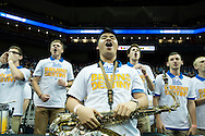 19 MAR 2015: University of California Los Angeles Prep Band cheers on the Bruins against Southern Methodist University during the 2015 NCAA Men's Basketball Tournament held at the KFC Yum! Center in Louisville, KY. UCLA defeated SMU 60-59. Brett Wilhelm/NCAA Photos