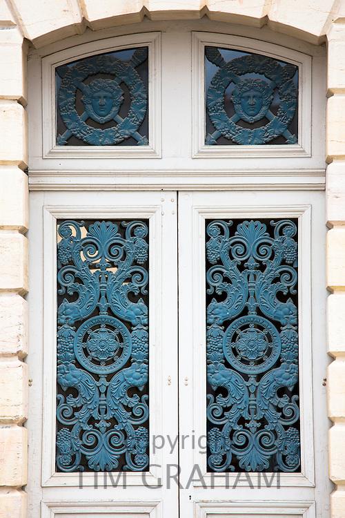 Ornate ironwork at the Ducal Palace, Palais des Ducs et des Etats de Bourgogne, at Dijon in Burgundy region of France