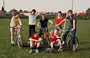 Boys with bicycles, Greenford, London, UK, 1980s.