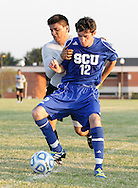 August 24, 2013: The Oklahoma Christian University Eagles play a preseason scrimmage on the campus of Oklahoma Christian University.