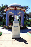 Bust and gazebo in Campechuela, Granma, Cuba.