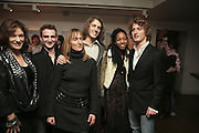 Diana Quick, Joseph Andre, Lucy Andre, Gustave Andre, Alliz Nicholas and Thaddeus Andre. Party to launch High Tide Writers Festival which will be held in Halesworth, Suffolk. Adam St. Club. 10 January 2007.  -DO NOT ARCHIVE-© Copyright Photograph by Dafydd Jones. 248 Clapham Rd. London SW9 0PZ. Tel 0207 820 0771. www.dafjones.com.