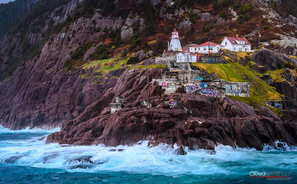 Fort Amherst Lighthouse at entrance to St John's Harbour<br /> <br /> Circumnavigation of Newfoundland Cruise<br /> <br /> w/ Adventure Canada - Image Licensing available on request to Creator