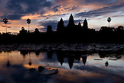 Angkor Wat, Siem Reap, Cambodia at sunset