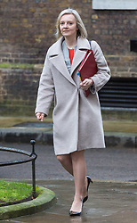London - Chief Secretary to the Treasury Elizabeth Truss attends the weekly meting of the UK cabinet at Downing Street. January 23 2018.