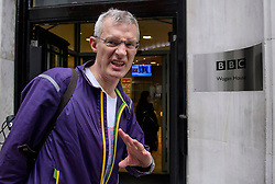 © Licensed to London News Pictures. 20/07/2017. London, UK. BBC Radio presenter JEREMY VINE seen arriving at BBC Broadcasting House in London following a BBC annual report which was published yesterday. The report revealed the salaries of stars earning more than £150,000. Photo credit: Ben Cawthra/LNP