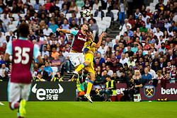 Andy Carroll of West Ham and Kenan Horic of NK Domzale during 2nd Leg football match between West Ham United FC and NK Domzale in 3rd Qualifying Round of UEFA Europa league 2016/17 Qualifications, on August 4, 2016 in London, England.  Photo by Ziga Zupan / Sportida