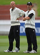 Chris Martin and Matthew Sinclair.<br /> National Bank Test Match Series, New Zealand v England, Black Caps Nets Practice. Allied Prime Basin Reserve, New Zealand. Tuesday, 11 March 2008. Photo: Dave Lintott/PHOTOSPORT