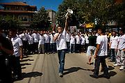 Vetvendosje (&quot;Self-Determination&quot; in Albanian) protest.<br /> <br /> Pristina, Kosovo, Serbia