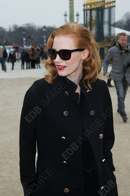 03.MARCH.2013. PARIS<br /> <br /> JESSICA CHASTAIN ARRIVING TO THE VIKTOR AND ROLF FALL-WINTER 2013/2014 READY-TO-WEAR COLLECTION SHOW, HELD AT L'ESPACE EPHEMERE DES TUILERIES IN PARIS.<br /> <br /> BYLINE: EDBIMAGEARCHIVE.CO.UK<br /> <br /> *THIS IMAGE IS STRICTLY FOR UK NEWSPAPERS AND MAGAZINES ONLY*<br /> *FOR WORLD WIDE SALES AND WEB USE PLEASE CONTACT EDBIMAGEARCHIVE - 0208 954 5968*