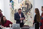 ALISON JACQUES; PAUL KASMIN, The VIP preview of Frieze. Regent's Park. London. 16 October 2013