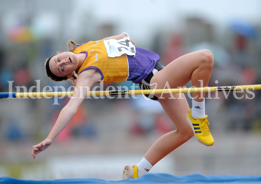 21 Aug 2016: Maeve Hayes, from Wexford, during the Girls U16 High Jump.  2016 Community Games National Festival 2016.  Athlone Institute of Technology, Athlone, Co. Westmeath. Picture: Caroline Quinn