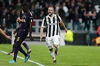 13.12.2018 - Torino - Champions League   -  Juventus-Tottenham nella  foto: Gonzalo Higuain  esulta dopo il gol del 2 a 0