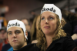 Spectators at ice-hockey match Slovakia vs Norway at Preliminary Round (group C) of IIHF WC 2008 in Halifax, on May 03, 2008 in Metro Center, Halifax, Canada. (Photo by Vid Ponikvar / Sportal Images)