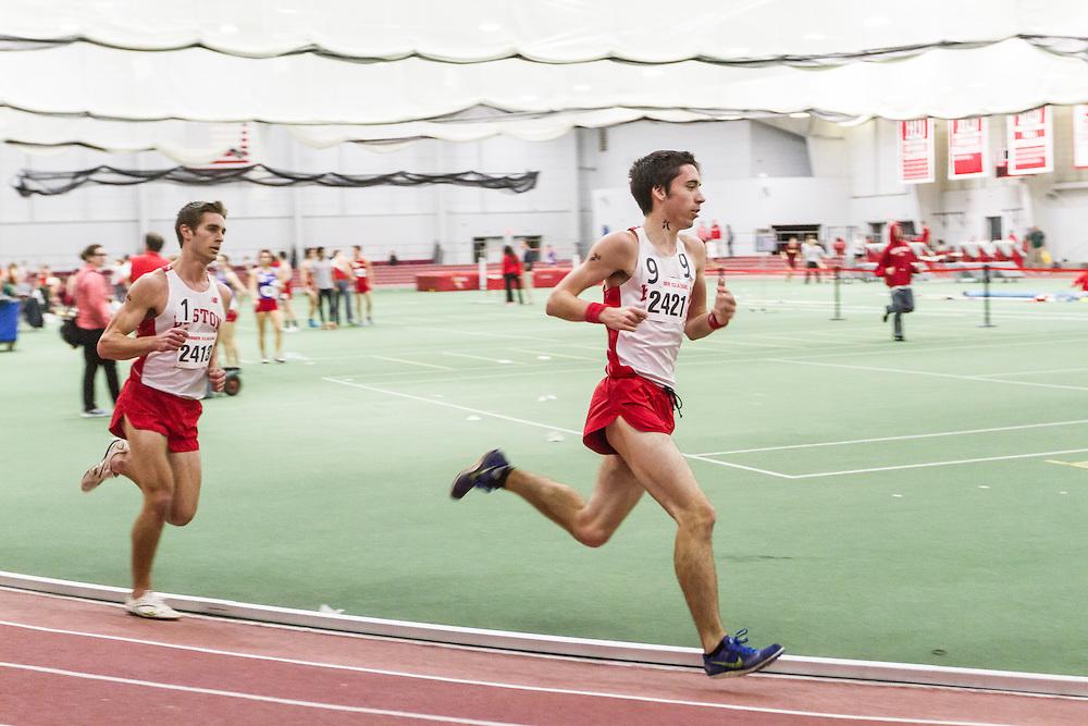 Boston University Multi-team indoor track & field, men 3000 meters, Kevin Thomas BU