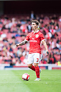 Benfica defender Alex Grimaldo (3) during the Emirates Cup 2017 match between Leipzig and Benfica at the Emirates Stadium, London, England on 30 July 2017. Photo by Sebastian Frej.