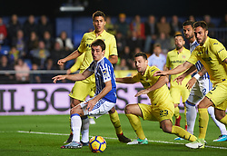 January 27, 2018 - Vila-Real, Castellon, Spain - Daniele Bonera of Villarreal CF and Mikel Oyarzabal of Real Sociedad during the La Liga match between Villarreal CF and Levante Union Deportiva, at Estadio de la Ceramica, on January 26, 2018 in Vila-real, Spain  (Credit Image: © Maria Jose Segovia/NurPhoto via ZUMA Press)
