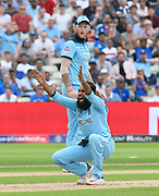 Wicket - Adil Rashid of England successfully appeals for an lbw against Marcus Stoinis of Australia during the ICC Cricket World Cup 2019 semi final match between Australia and England at Edgbaston, Birmingham, United Kingdom on 11 July 2019.