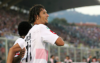 "L'esultanza di Carvalho de Oliveira Amauri dopo il gol dell'1-2<br /> Carvalho de Oliveria Amauri (Palermo) celebrates after scoring second goal<br /> Italian ""Serie A"" 2006-07 <br /> 29 October 2006 (Match Day 9)<br /> Fiorentina-Palermo (2-3)<br /> ""Artemio Franchi"" Stadium-Firenze-Italy<br /> Photographer Luca Pagliaricci INSIDE"