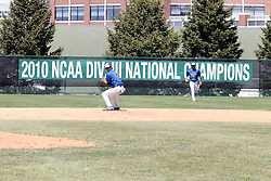 11 May 2013:  Eric Sousanes during an NCAA division 3 College Conference of Illinois and Wisconsin (CCIW) Pay in Baseball game during the Conference Championship series between the North Park Vikings and the Illinois Wesleyan Titans at Jack Horenberger Stadium, Bloomington IL