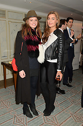 Left to right, LAUREN REGAN and LILY FRIEDA at the launch of Mrs Alice in Her Palace - a fashion retail website, held at Fortnum & Mason, Piccadilly, London on 27th March 2014.