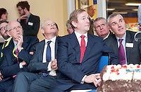 03/02/2014 HP Ireland today announced the formal commencement of the construction phase of its new 89,000 sq. ft. office building in Ballybrit, Galway, at a ceremony attended by An Taoiseach, Enda Kenny, TD. <br /> The project is expected to be one of the largest construction projects in Galway in recent times, and is likely to create up to 200 construction jobs. <br /> Pictured at the event were:   Barry O'Leary, Enterprise Ire, Martin Murphy, MD of HP Ireland An Taoiseach Enda Kenny TD at a brick laying ceremony at HP and Tom Dempsey HP . Photo:Andrew Downes.