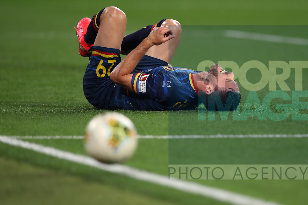 Lecce's Italian defender Andrea Rispoli lays injured following a later challenge during the Serie A match at Allianz Stadium, Turin. Picture date: 26th June 2020. Picture credit should read: Jonathan Moscrop/Sportimage