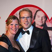 NLD/Scheveningen/20130909 -  Filmpremiere Smoorverliefd, Leo Alkemade en partner Margriet Baalman