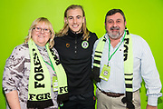 Forest Green Rovers Joseph Mills(23) with his sponsors during the EFL Sky Bet League 2 match between Forest Green Rovers and Carlisle United at the New Lawn, Forest Green, United Kingdom on 16 March 2019.