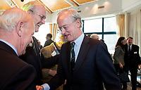 SOESTDUINEN - Ronald Pfeiffer neemt afscheid van Lout Mangelaar Meertens en Jan Kees van Soest. Algemene Ledenvergadering van de NGF (Nederlandse Golf Federatie) met bestuurswisseling. COPYRIGHT KOEN SUYK