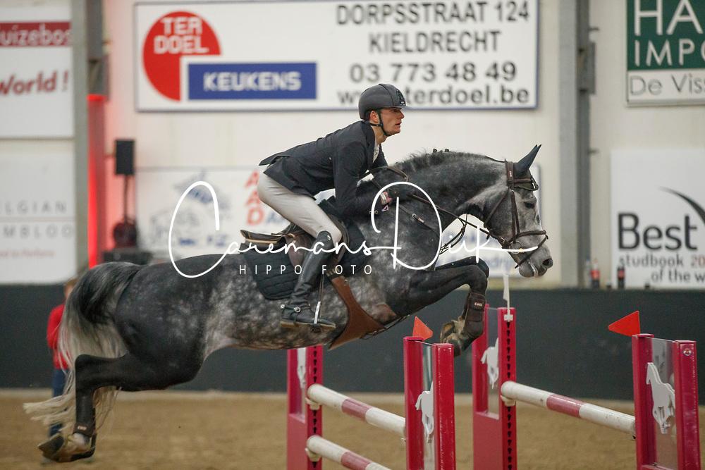 De Winter Jeroen, BEL, Leandro Vg<br /> Hengstencompetitie - Hulsterlo - Meerdonk 2018<br /> © Dirk Caremans<br /> 18/03/2018