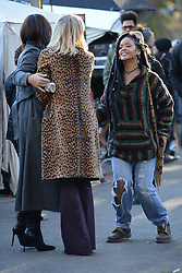 November 7, 2016 - New York, NY, USA - November 7, 2016 New York City..Sandra Bullock, Cate Blanchett and Rihanna on the film set of Ocean's Eight in Central Park on November 7, 2016 in New York City. (Credit Image: © Kristin Callahan/Ace Pictures via ZUMA Press)