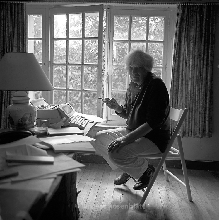 Thomas Harlan (†2010), German writer & director in his countryhouse in Courcerault, France, ca 1996