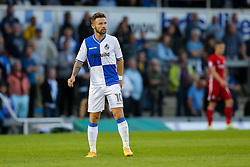 Matt Taylor of Bristol Rovers looks on - Rogan Thomson/JMP - 11/08/2017 - FOOTBALL - Memorial Stadium - Bristol, England - Bristol Rovers v Cardiff City - EFL Cup First Round.