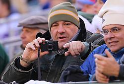 Dec 24, 2011; East Rutherford, NJ, USA; Actor James Gandolfini during the first half at MetLife Stadium.
