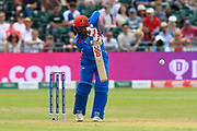 Gulbadin Naib (c) of Afghanistan batting during the ICC Cricket World Cup 2019 match between Afghanistan and Australia at the Bristol County Ground, Bristol, United Kingdom on 1 June 2019.