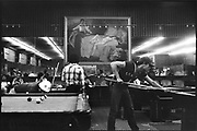People playing pool in Palace Billiards, San Francisco USA, 1980