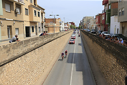 2 man breakaway with Jorge Cubero Galvez (ESP) Burgos-BH and Jelle Wallays (BEL) Lotto-Soudal pass through Almussafes during Stage 4 of La Vuelta 2019 running 175.5km from Cullera to El Puig, Spain. 27th August 2019.<br /> Picture: Ann Clarke | Cyclefile<br /> <br /> All photos usage must carry mandatory copyright credit (© Cyclefile | Ann Clarke)