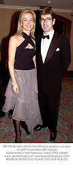 MR TIM & LADY HELEN TAYLOR at a dinner in London on 29th November 2001.		OUS 21